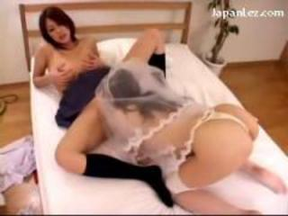 Busty Bride Licking Pussy Procurement Licked Fingered Heavens The Bed