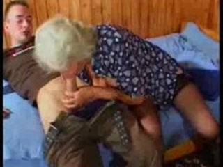 Busty German Granny fucks young Guy