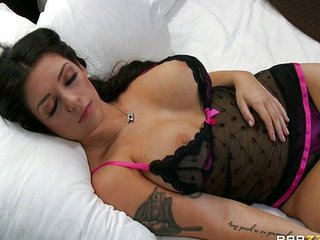 Amazing Big Tits Lingerie  Pornstar Sleeping Tattoo
