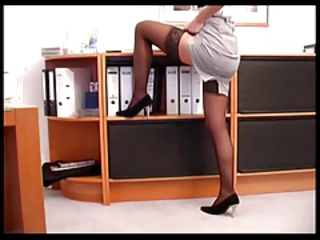 hot fucking and cumshot on high heels
