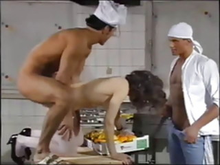 Doggystyle Kitchen Threesome Vintage