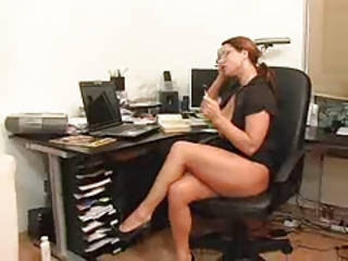 European German Glasses Legs  Office Redhead Secretary