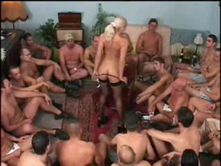 Bukkake Gangbang  Stockings Stripper