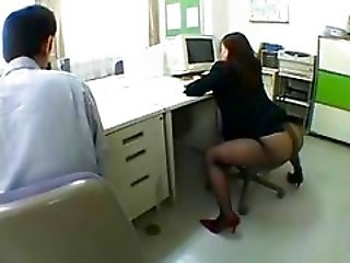 Japanese Office Pantyhose