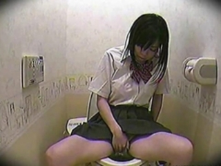 Asian Masturbating Teen Toilet Voyeur