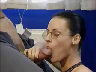 Amazing Blowjob Cute Glasses  Office Secretary