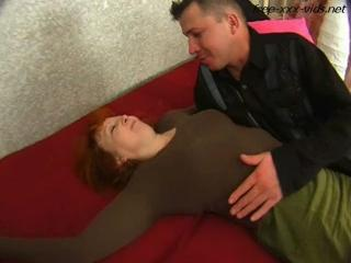 Barfly mother seduced and fucked hard by young cock