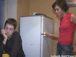 Girlfriend Kitchen Russian Teen