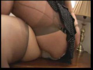 Another Amateur Busty Mature Hairy Tease In Stockings