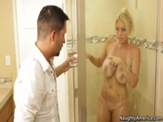 Blonde MILF Fucks In Bathroom a ... free