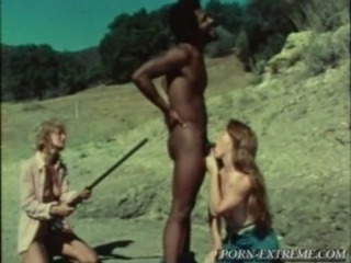 Blowjob Interracial Threesome Vintage