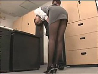 Asian Office Pantyhose Skirt