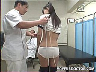 School pediatrician gets schoolgirl to suck his hard cock