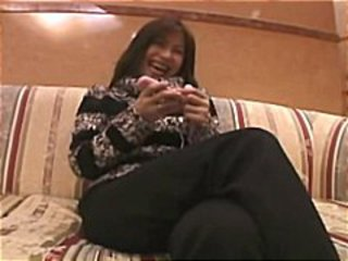 Mature Asian amateur Hina rubs and toys her hairy snatch for hubby