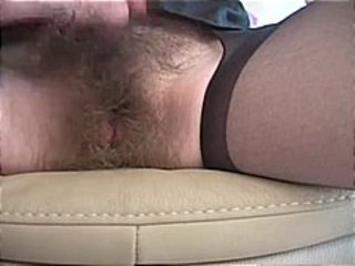 Blonde with hairy pussy toys herself and then she gets fucked