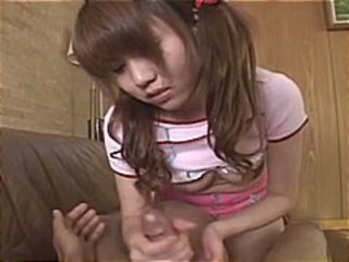 Asian Chinese Handjob Pigtail Small Tits Teen