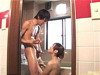 Asian Bathroom Blowjob Pornstar Teen