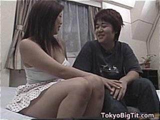 Busty Nana Masaki sperm eating part1