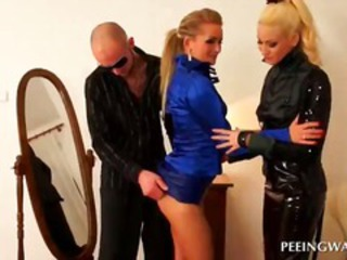 Latex  Pornstar Threesome