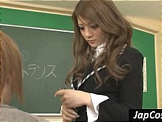 Asian Cute School Student Teacher
