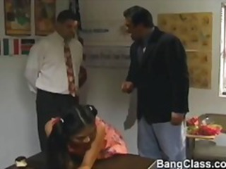 Asian Old and Young Pigtail Threesome