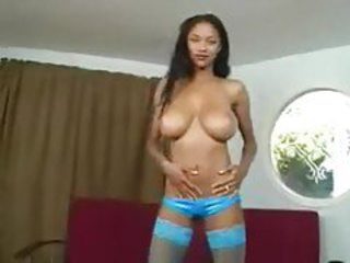 Solo black girl has huge natural knockers tubes