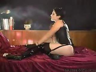 Smoking Fetish Keenan Smoking Leather Corset Gloves Part4 Bdsm Bondage Slave Femdom Domination