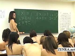 Asian Japanese  Nudist School Student Teacher
