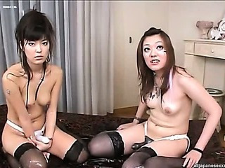 Asian Oily Lesbian Threesome