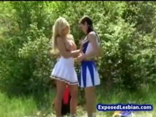 Cheerleader Lesbian Outdoor Teen Uniform