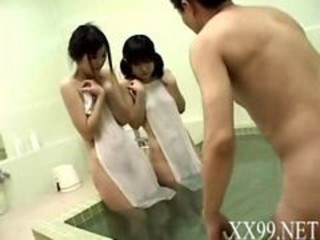 Asian Pool Threesome