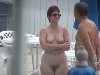 Hairy Mature Nudist Voyeur
