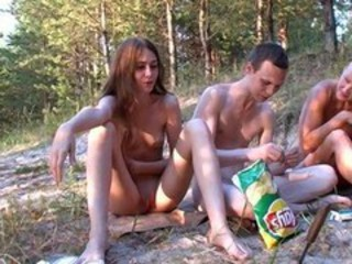 Outdoor Party Russian Teen