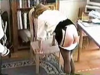 Two pretty girls are punished in the office