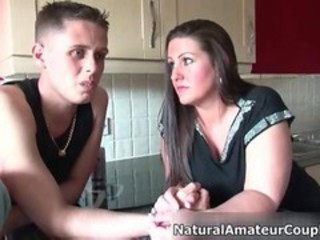 Homemade video of a brunette girl
