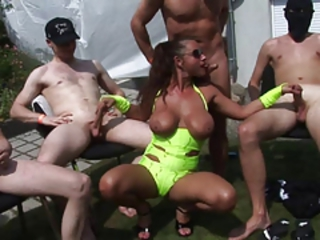 gangbang with hot milf