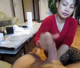 Amateur Asian Handjob Homemade  Pov
