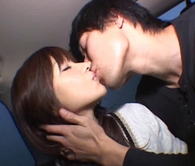 Asian Car Cute Kissing