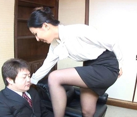 Asian Japanese  Office Secretary Stockings