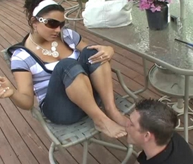 Bella and her Feetlick Slave 2
