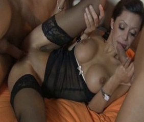 Amazing Blowjob European Hardcore Italian  Stockings Threesome