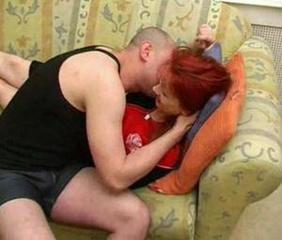 Amateur  Mom Old and Young Redhead