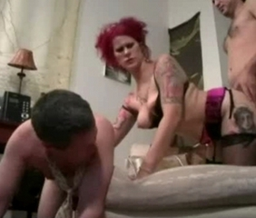 Cuckold Doggystyle Lingerie  Redhead Tattoo Wife