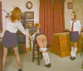 School Spanking Teen Threesome Vintage