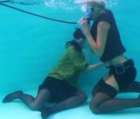 It's their first Girl on Girl session underwater... and for the scuba mask fans the update is a MUST SEE one.