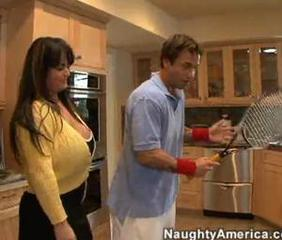 Big Tits Chubby Kitchen Mature