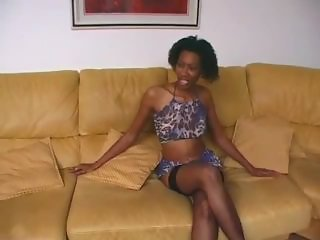 Amateur Ebony  Skinny Stockings