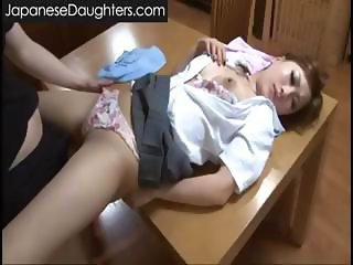 Japanese Panty Sleeping Teen