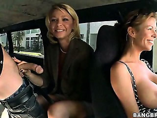 Big Tits Blowjob Car Groupsex