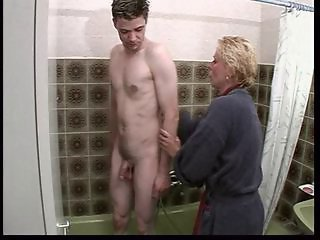Bathroom European French Mature Mom Old and Young